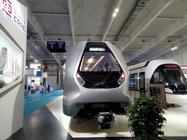 中国全碳纤维车体结构地铁亮相