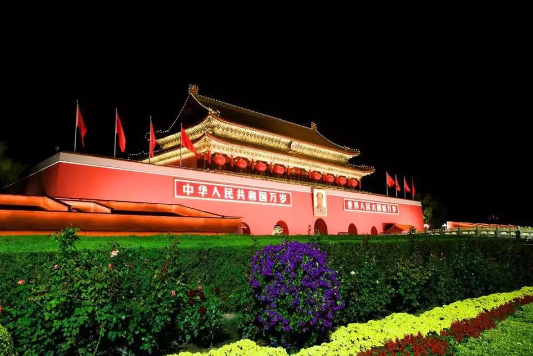 北京国庆景观设置在中秋前全部完工亮相