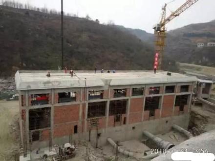 鋼骨架輕型板運用于漢陰洞河水庫電站廠