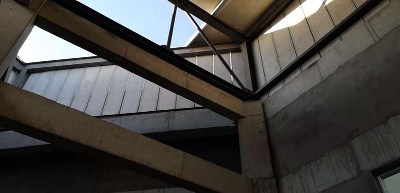 鋼骨架輕型板用于中壢新動力展覽館