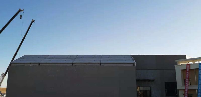 钢骨架轻型板用于鄂尔多斯新能源展览馆